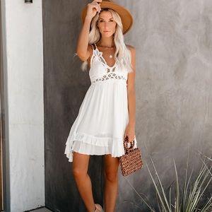 VICI Crochet White Dress